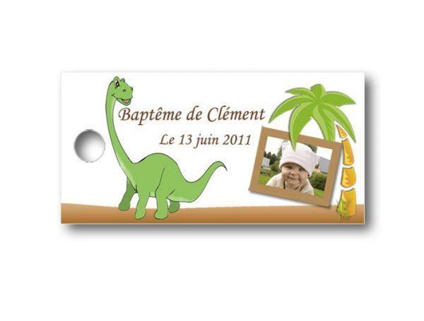 Etiquette-dragees-bapteme-personnalisable-avec-photo-fromat-rectangulaire-ref-petit-dinosaure