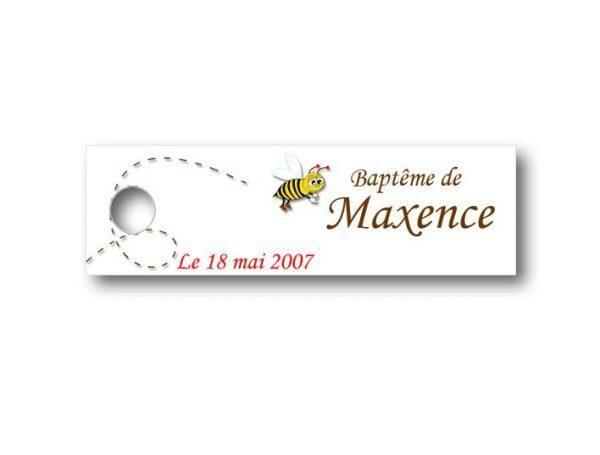 Etiquette-dragees-bapteme-personnalisable-avec-photo-fromat-rectangulaire-ref-petite-abeille