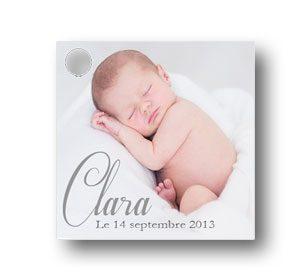 Étiquette dragées bapteme illustrée avec une photo de votre enfant
