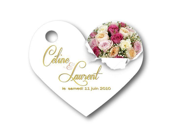 étiquettes dragées - illustrées avec des roses anglaise