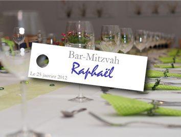 étiquette dragées bar-mitzvah rectangulaire avec la photo de votre enfant