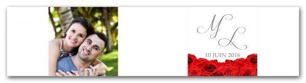 habillage pour boite a dragees mariage sur le theme tapis de roses avec photo des maries