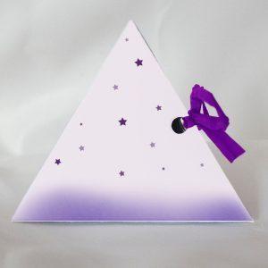boite a dragees bapteme pyramide princesse cote droit