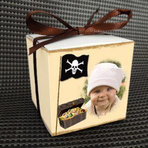 boite à dragées baptême - boite personnalisée sur le thème pirate