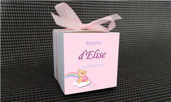 découvrez notre boite à dragées décorée d'un petit ourson