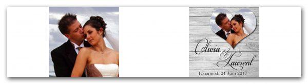 habillage boite a dragees mariage theme nature et bois